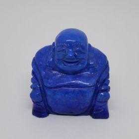 Chinese Buddha Lapis Lazuli ingekleurd