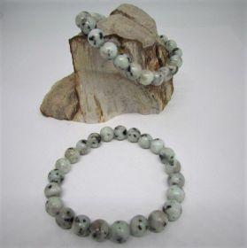 Jaspis, Kiwi Jaspis Armband
