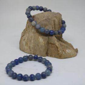 Armband van Aventurijn Blauw