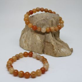 Armband van Jade Rood/oranje