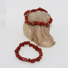 Split Armband van Rode Jade