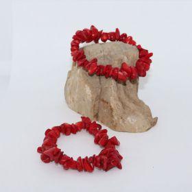 Split Armband van Bloedkoraal