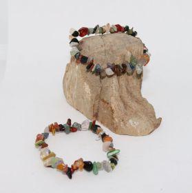 Split Armband van chakra mineralen