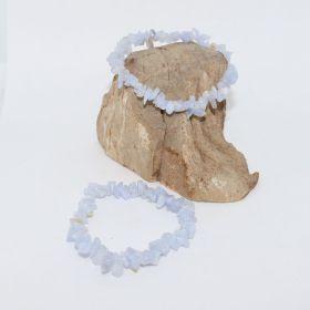 Split Armband van Chalcedoon Blauw