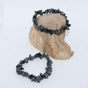 Split Armband van Sneeuwvlok Obsidiaan