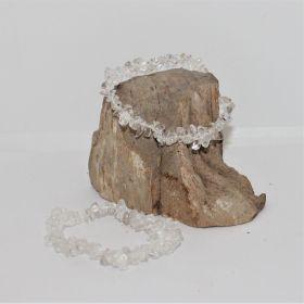 Split Armband van Bergkristal