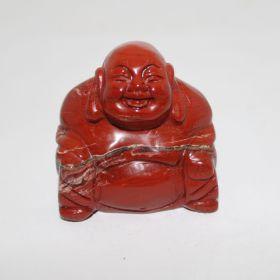 Rode Jade Boeddha 5cm hoog