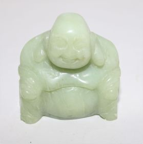 Groene Jade Boeddha 5cm hoog