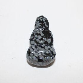 Zak Boeddha van Sneeuwvlok Obsidiaan