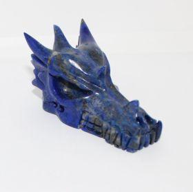 Draken schedel van Lapis Lazuli