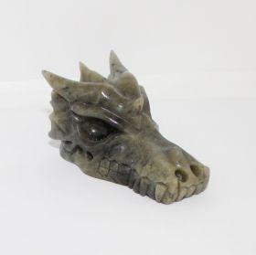 Draken schedel van Labradoriet