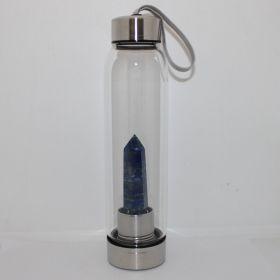 Drinkfles met Lapis Lazuli obelisk