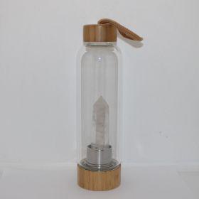 Drinkfles met Bergkristal obelisk