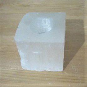 Seleniet wit theelicht vierkant