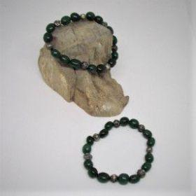 Armband van groene agaat
