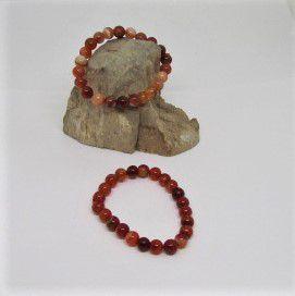 Agaat oranje armband
