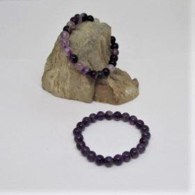 Paarse Agaat armband