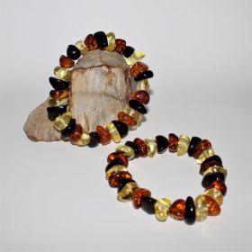 3 kleurige Barnsteen Armband