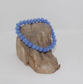 Facetgeslepen Blauwe Glaskralen armband