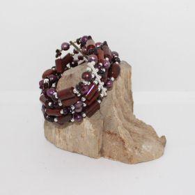Zomer Collectie armband met Mahonie Obsidiaan
