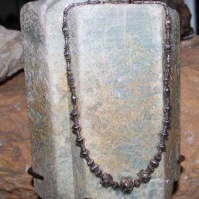 925 Zilvere Ketting van India'se kralen
