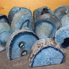 Blauwe Agaat Theelichten