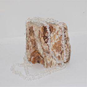 Split ketting van Bergkristal