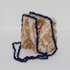 Split ketting van Lapis Lazuli Bijgekleurd
