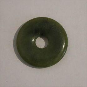 Donut Jade, groen/blauw 3 cm