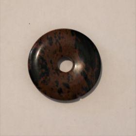 Donut Mahonie Obsidiaan 3 cm