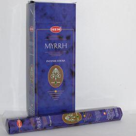 Myrrh wierook slof van 6 pakjes