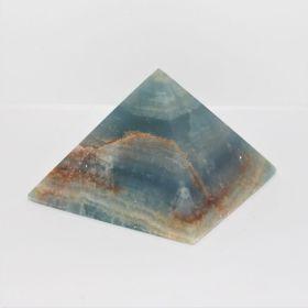 Blauwe Onyx met Aragoniet Piramide
