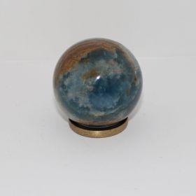 Blauwe Onyx met Aragoniet Bal